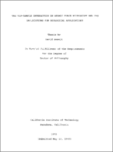 Atomic force microscopy thesis