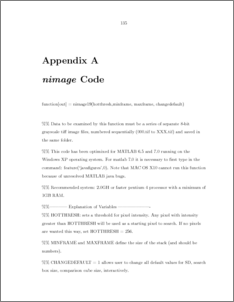using appendix in a thesis