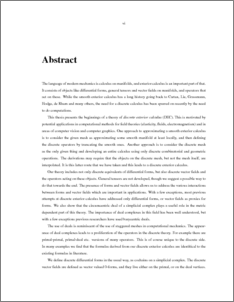 Phd dissertation abstracts