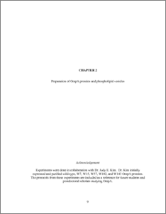 Membrane thesis