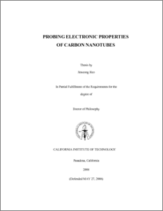 Dissertations & Student Research in Computer Electronics
