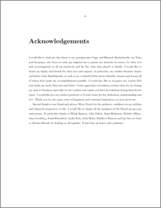 Masters thesis aknowledgement