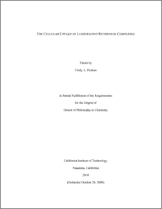 chemistry thesis abstract