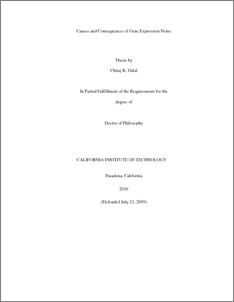Gene expression thesis