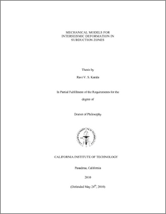 Phd thesis mechanical