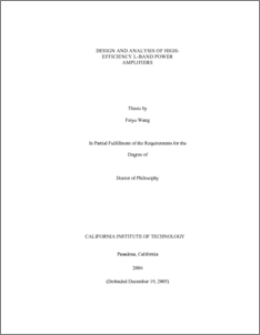 Power amplifier phd thesis