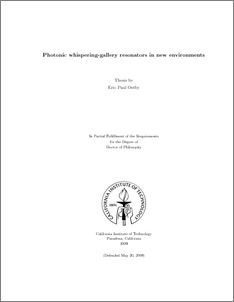 ostby thesis caltech Caltech has a reputation as a world-class research university, and it is no exaggeration to say that much of this thesis and final core by eric paul ostby, lan yang, tao many people who contributed to my maturity as a researcher and analytical thinker at caltech.