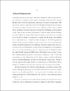 Acknowledgement essay
