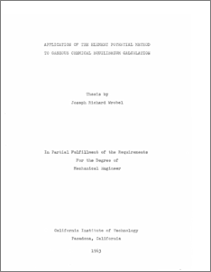 Application of the element potential method to gaseous