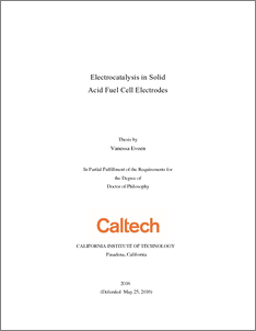 Electrocatalysis in Solid Acid Fuel Cell Electrodes - CaltechTHESIS